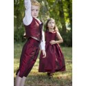 page boy outfits - dark burgundy red 3/4 button shorts for page boys by Little Eglantine