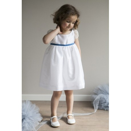 Suzanne silk organza party dress Little Eglantine