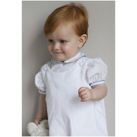Baby shirt  with peter pan collar & puff sleeves Little Eglantine