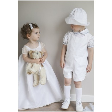 White Baby Rompers by royal designer Little Eglantine