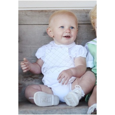 Embroidered romper suit for babies - Little Eglantine