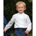 Page boy Double breasted Mandarin shirt for wedding Little Eglantine