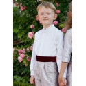 Mandarin collar shirt for boys communion wedding page boy Little Eglantine