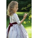 Elise soft lilac silk winter flower girl dress Little Eglantine