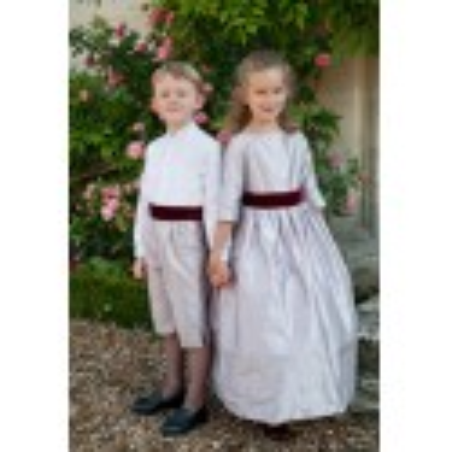 Elise soft lilac silk winter flower girl dress Little Eglantine