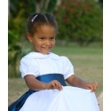 Gallia white flower girl dress - designer flower girl dresses uk