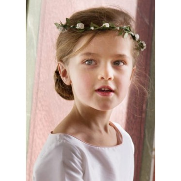 white floral headdress for girls