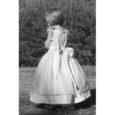 Adele silk organza holy communion dress