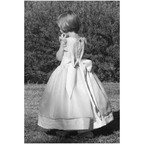 Adele white holy communion dress by Royal designer Little Eglantine