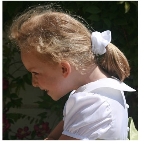 white Scrunchies for girls - poneytail accessories