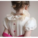 Daphné flower girl dress frill collar Little Eglantine