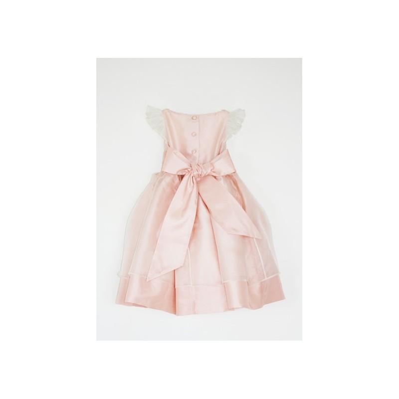 SALE! Adele soft pink silk organza flower girl dress in size 3 by Royal designer Little Eglantine