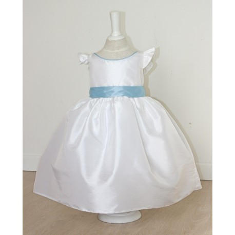 Emma flower girl dress with flounce sleeves - back - Little Eglantine