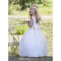 Celeste spotted tulle designer flower girl dress little eglantine