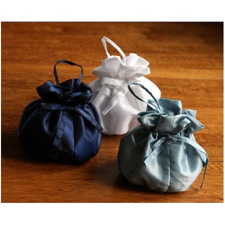 Drawstring bag purse dolly bag for flower girls by little eglantine