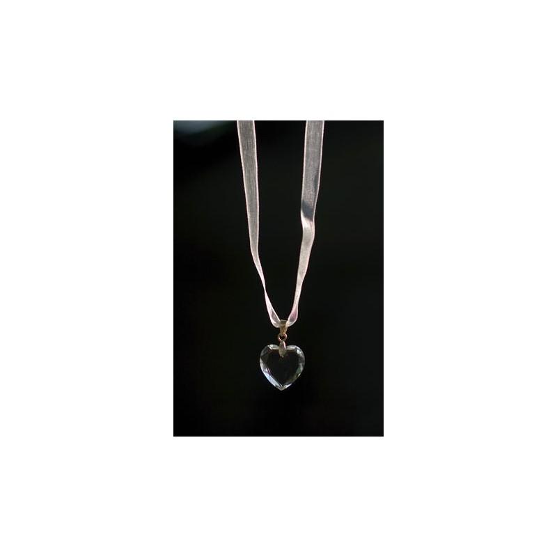 Swarovski crystal heart pendant - Little Eglantine