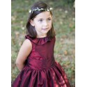 Margot frill collar flower girl dress by royal designer Little Eglantine UK