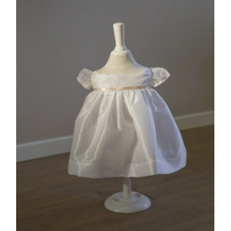 Suzanne silk organza girl baby dress designer Little Eglantine