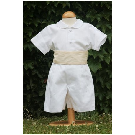 white and ivory boys christening outfit by royal french designer little eglantine