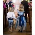 Isobel flower girl dress Little Eglantine - designer flower girl dresses UK
