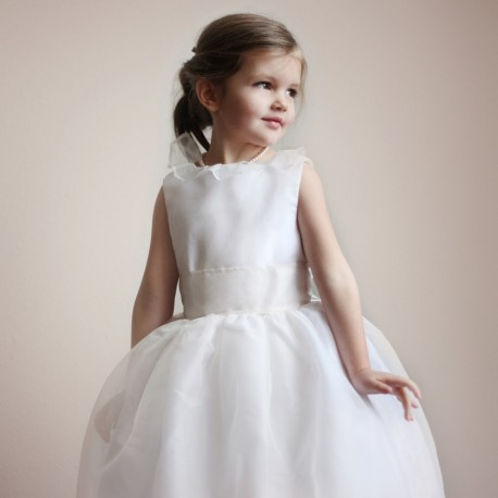 Chloe silk organza flower girl dress little eglantine