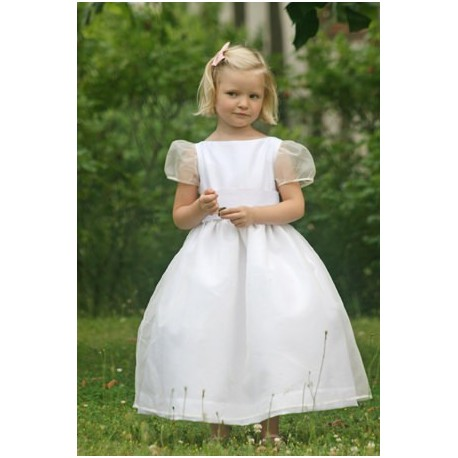Alix silk organza holy communion dress Little Eglantine