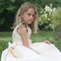 first holy communion dress Caroline in silk organza by French Royal Designer Little Eglantine - designer communion dresses Irela