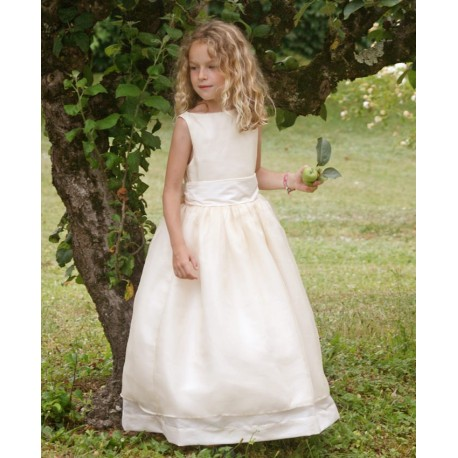 designer communion dresses Ireland - first holy communion dress Caroline in silk organza by French Royal Designer Little Eglanti