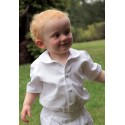 Peter Pan collar shirt with short sleeves for babies & toddlers by French Royal designer Little Eglantine