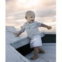 Designer baby Boys white cotton shorts Little Eglantine