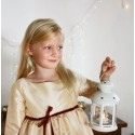 Sparkling gold Christmas party dress for girls by French UK designer little Eglantine