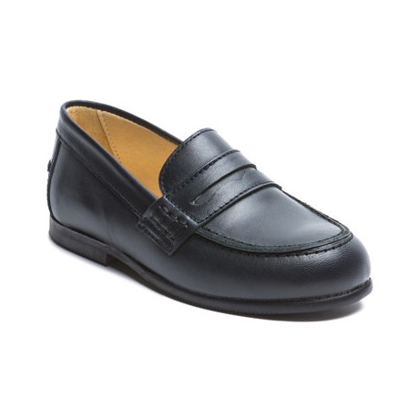 Amaury loafers in navy blue for page boys little eglantine