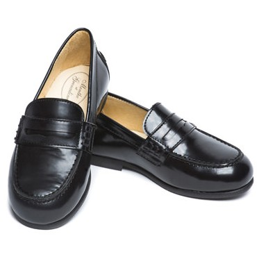 Amaury black patent leather loafers