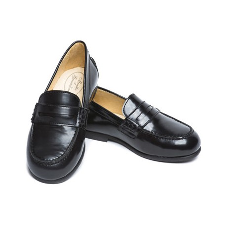 Amaury black patent leather loafers for page boys and special occasions little eglantine