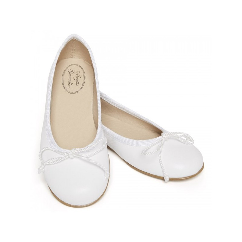 7e9eaba84e2124 Clarisse classic ballerina shoes for girls weddings