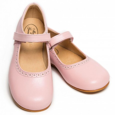 Charlotte pink riptape shoes for flower girls and special occasions little eglantine
