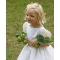 Alix silk organza flower girl dress Little Eglantine