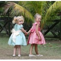 Emilie knee length designer flower girl dress the perfect fit for a royal wedding! designer Little Eglantine
