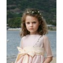 Dorothée short designer flower girl dress by Little Eglantine