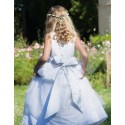 Caroline silk organza flower girl dress junior bridesmaid dress communion dress by French designer Little Eglantine UK