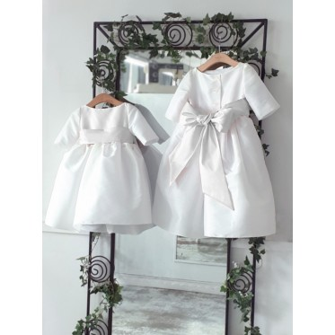 Claire holy communion dress with 3/4 length sleeves