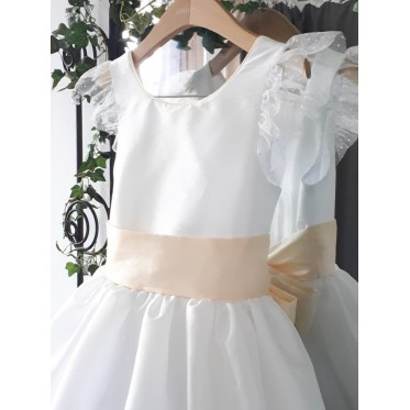 Olympia dress - size 9 y - off white & ivory taffeta