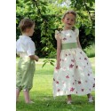 Isobel embroidered flower girl dress Little Eglantine