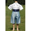 Pale blue page boy French shorts by royal maison de couture Little Eglantine
