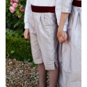 3/4 button shorts for page boys by Little Eglantine