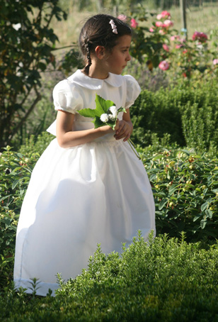 White Dress on Ready To Wear   Gallia Flower Girl Dress   Little Eglantine