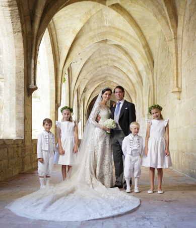 Wedding of Prince Felix of Luxembourg and Claire Lademacher : Royal flower girl dresses and page boy outfits designed by Little Eglantine