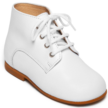 White lace up ankle boot I wedding shoes