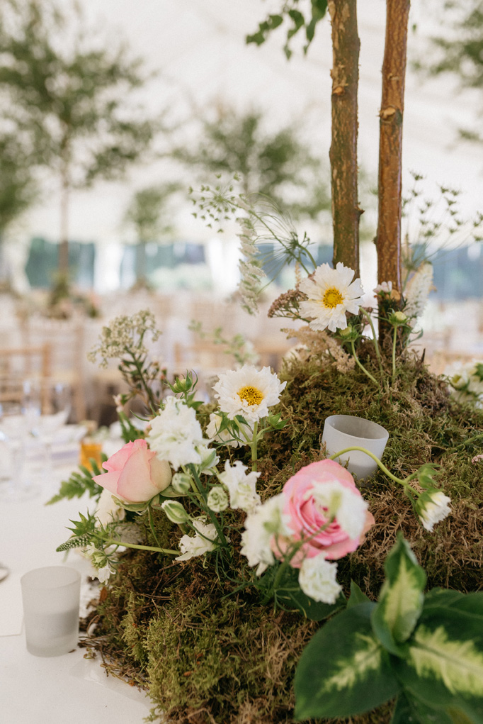 zoom on a natural centerpiece