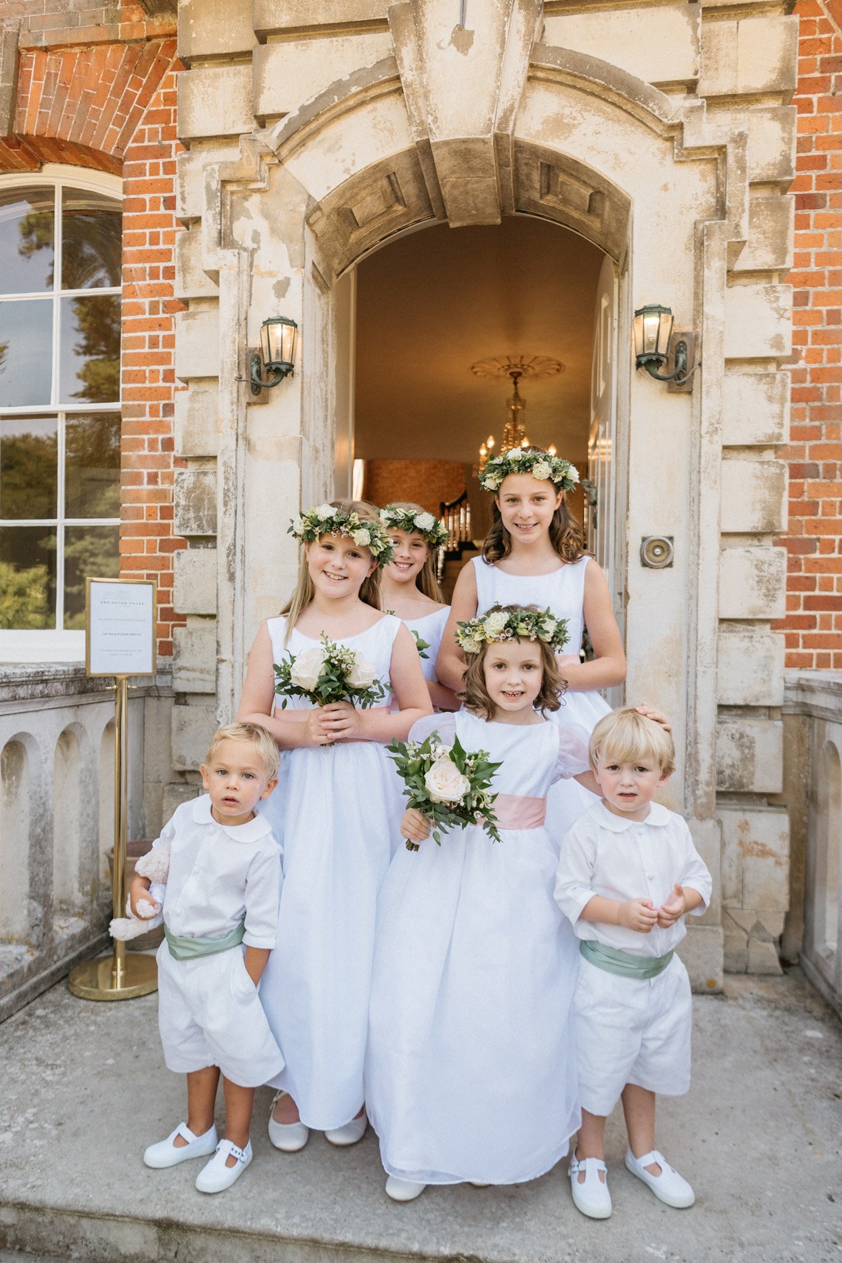 Elegant flower girls and page boys wearing Little Eglantine